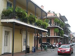 French Qtr lush balconies