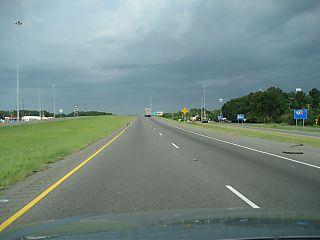 I-10 before storm