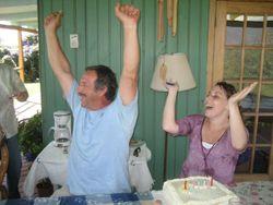Ricardo and Elo end the birthday chant...