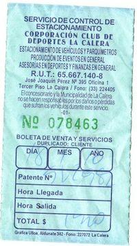 10 Parking Receipt