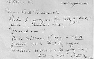 Joan's note
