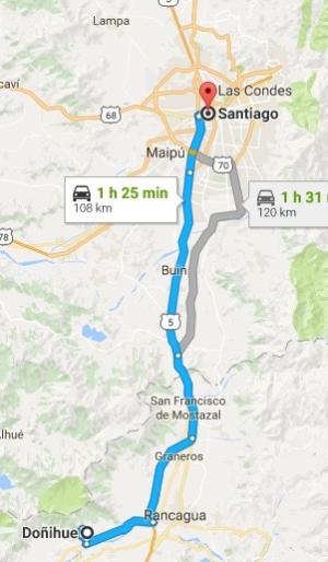 Santiago to Donihue