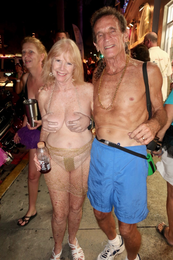 Mature wife at fantasy fest
